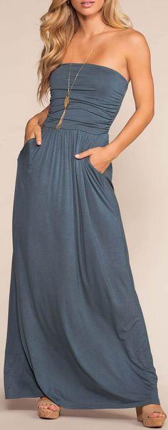 Sunrise Pocket Maxi Dress