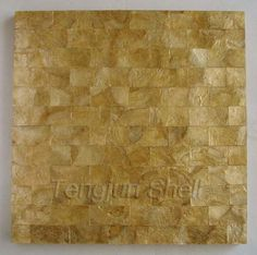 Golden Color Capiz Shell Mosaic Tile Brick Pattern View Tengjun Product Details From Arts And Crafts Co Ltd On Alibaba