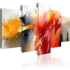 murando - Cuadro en Lienzo 200x100 cm - Impresion en calidad fotografica - Cuadro en lienzo tejido-no tejido - Abstraccion 0101-57: Amazon.es: Hogar