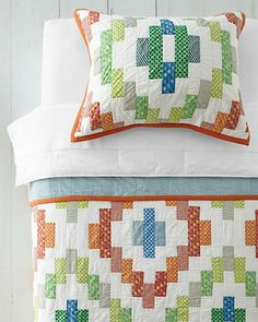 "Cute ""Bainbridge"" quilt and sham from Garnet Hill."