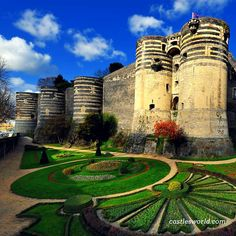 Castle of Angers, France A massive medieval fortress that stretches for almost 500m with 17 imposing towers. It has never been taken by any invading force in history…
