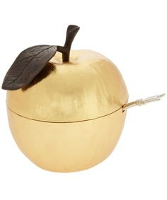 Gold Plated Apple and Arrow Sugar Bowl, Michael Aram.