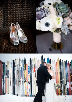 Stunning winter wedding details! Photos by Brinton Studios. Styled by Pick Me! Floral and Event Design. Found via Style Me Pretty #winter #wedding
