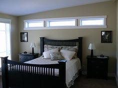 Transom - above the master bed. Love the extra light but doesn't need window treatments!