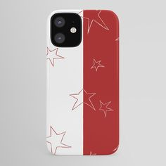 Buy Stars - Red and White iPhone Case by laec. Worldwide shipping available at Society6.com. Just one of millions of high quality products available. Iphone Skins, Iphone 8 Cases, Iphone Se, Iphone 8 Plus, Case 39, White Iphone, Red And White, Tech, Stars