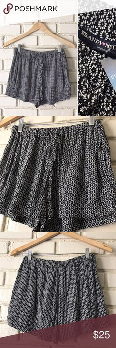 "Brandy Melville Floral Black & White Boho Shorts NWT Brandy Melville Floral Shorts - Tag says ""one size"" please see photos for Measurements. New With Tags! Please let me know if you have any questions! Thanks!  Brandy Melville Shorts"