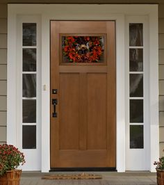 Fir Craftsman Entry Door mediterranean front doors