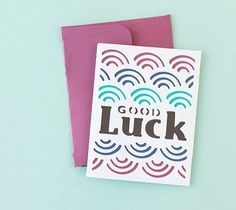 DIY Good Luck Card. Make It Now in Cricut Design Space