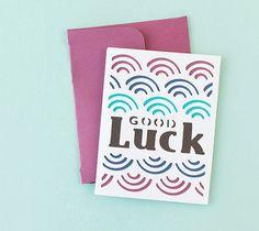 DIY Good Luck Card. Make It Now in Cricut Design Space