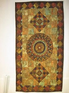 Quilted table runner  wall hanging Mosaic by KellettKreations, $29.00