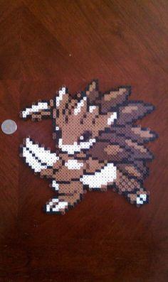 Perler Beads; Sandslash as it appeared in Pokemon Silver.