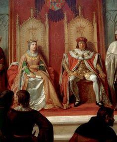 Isabel de Castilla y Fernando de Aragon Kingdom Of Navarre, National Geographic, Isabel I, Spain History, Catherine Of Aragon, King Henry Viii, History Timeline, Roman Emperor, Queen Of England