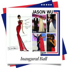 """Michelle Obama's Inaugural Ball Pick: Jason Wu"" by leilagoncalves on Polyvore"