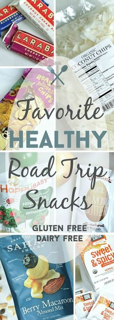 The best gluten-free, dairy-free, vegan list for favorite healthy road trip snacks! Perfect when you don't have time to make your own road eats.