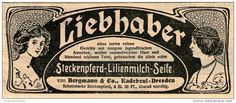 Original-Werbung/ Anzeige 1909 - STECKENPFERD - LILIENMILCH - SEIFE / BERGMANN - RADEBEUL - ca. 130 x 50 mm