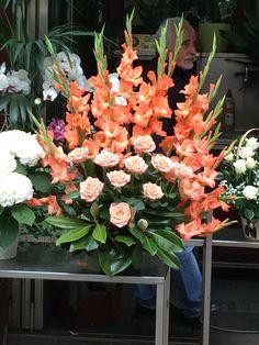 Beautiful bouquets in La Rambla street market