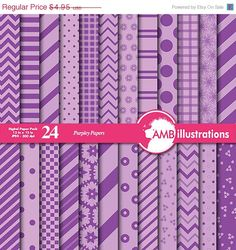 80 OFF Beautiful Mixed papers in purples by AMBillustrations 80 OFF Beautiful Mixed papers in black and by AMBillustrations  If you want access to freebies and contests go like our Facebook page : https://www.facebook.com/ambillustration  #clipart #vectorgraphic #digitalscrapbooking  #clipart #digitalart #purplepapers #classicpapers #classicpurplepapers #purplechevronpapers #purplestripedpapers #purplepolkadotpapers