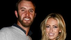 Dustin Johnson and fiancee Paulina Gretzky, daughter of hockey great Wayne Gretzky