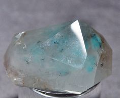 Ajoite in Quartz Polished crystal point - South Africa