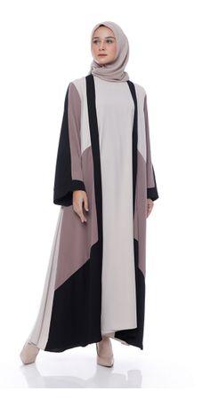 Street Hijab Fashion, Abaya Fashion, Modest Fashion, Fashion Outfits, Muslim Dress, Hijab Dress, Kaftan, How To Wear Hijab, Best Casual Dresses