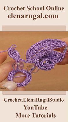 Crochet Bedspread Pattern, Crochet Motifs, Bead Crochet, Irish Crochet, Crochet Crafts, Crochet Flower Scarf, Crochet Flower Patterns, Crochet Flowers, Crochet Earrings Pattern