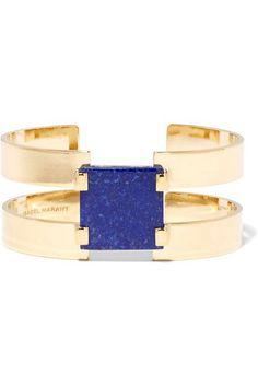 Isabel Marant   Gold-plated lapis lazuli cuff   NET-A-PORTER.COM
