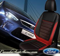 Ford C-MAX Limited Edition Leather Interior - Three Tone Design - canadaseatskins.com #leatherseats #ford #cmax