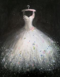 Wedding Dress Patterns, Wedding Dresses, White Lace Gown, Dress Painting, Fairy Dress, Dance Art, Fashion Sketches, Painting Inspiration, Fashion Art