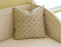Duralee Kilburn in Gray  Pillow Cover by SewSusieDesigns on Etsy, $38.00