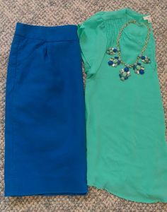 $20 Modest Outfit Challenge. Mint & Cobalt. Modest Outfit Ideas. Modern Modesty Blog.