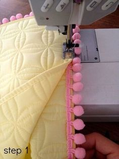 Sewing Pillows DIY Pom Pom Placemat Pillows - Pretty Handy Girl - Here's another fun DIY sewing project. Today it's pom pom placemat pillows. They are a cinch to make. Diy Sewing Projects, Sewing Hacks, Sewing Tutorials, Sewing Crafts, Sewing Patterns, Sewing Diy, Sewing Pillows, Diy Pillows, Decorative Pillows