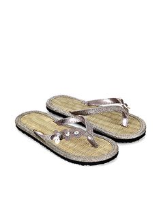 f52af123a69e Mixed Glitter Beaded Flower Flip Flop Ladies Shoes