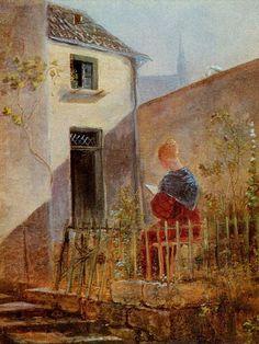 Carl Spitzweg - Im Hausgarten 1837