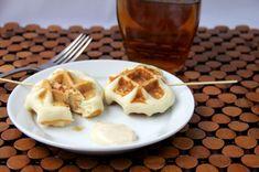 Crunchy Chicken Stuffed Waffles Pops