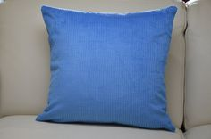 Cushions : Set of 4 Electric Blue Coloured Cushion Covers