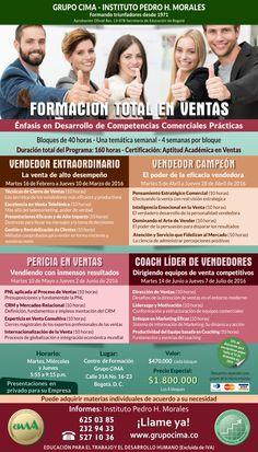 Programa de formación total en ventas  Últimos cupos no te quedes por fuera  PBX 6250385 Bogotá