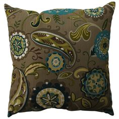 Pillow Perfect Merrimack Suzani 23-inch Decorative Pillow