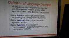LanguageDisorder
