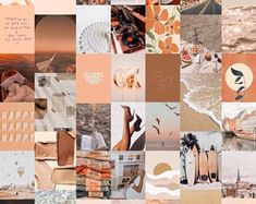 Neutral Walls, Digital Wall, Photo Wall Collage, Aesthetic Collage, Kit, Hanging Plants, Home Wall Art, Dorm Decorations, Vintage Walls
