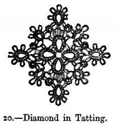 Diamond in Tatting.