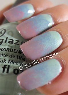 Pastel gradient with China Glaze