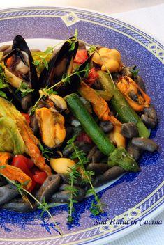 Gnocchetti di Grano Arso con Cozze e Talli - http://blog.giallozafferano.it/suditaliaincucina/gnocchetti-grano-arso-cozze/