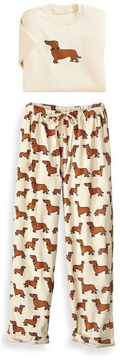 Dachshund Pajamas, if they had them in bigger sizes, I would love some. They only go up to XL :( if anybody finds bigger, let me know.