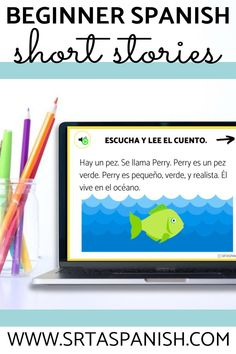 Spanish students will love these beginner Spanish short stories. They have high frequency verbs for novice learners which is great for comprehensible input and an audio option for them to listen while they read along - great for listening practice! You'll love this no prep Spanish teaching resource for elementary school, middle school, and high school classrooms. Click to learn more about these digital and printable Spanish stories for your Spanish classes! Spanish 1, Spanish Class, Middle School Spanish, Spanish Teaching Resources, Spanish Lesson Plans, Comprehensible Input, School Classroom, Short Stories, Elementary Schools