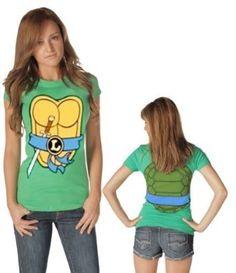 Amazon com teenage mutant ninja turtles women s t shirt with eye mask
