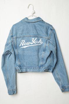 Brandy ♥ Melville   Jackson New York Denim Jacket - Graphics