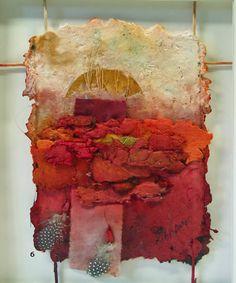 Allen K. Littlefield. Handmade Paper Collage. Small Wall Pieces
