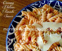 Mormon Mavens in the Kitchen: Creamy Italian Tomato Sauce