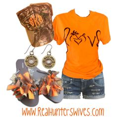 """Orange'nt ya glad it's spring?!"" by realhunterswives on Polyvore"