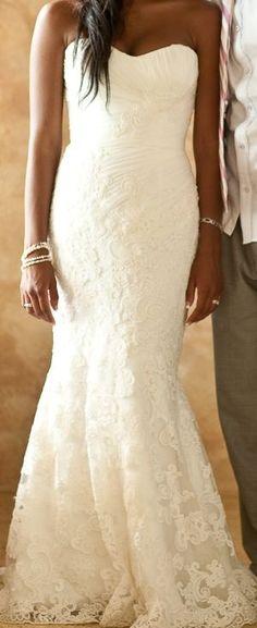 Gorgeous lace wedding dress - My wedding ideas